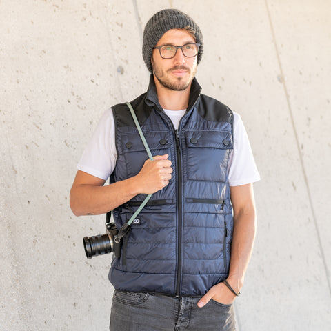 Heatable Photo Vest Navy - Heatable Photo Vest Navy