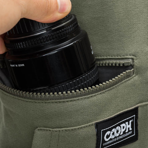 lens pocket, zippable for extra safety - Hoodie ORIGINAL - COOPH store