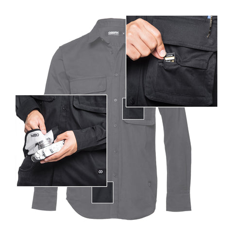 features - Big Pocket Shirt DOUBLE ECLIPSE - COOPH store