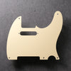 Telecaster Pickguard - Cream Single-Ply - 5-hole - with Pickup Mounts