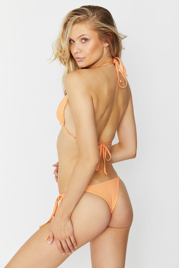 orange cheeky bikini bottom