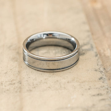 6mm Tungsten Carbide Double Grooved Ring
