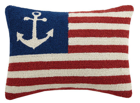 American Flag Anchor Pillow