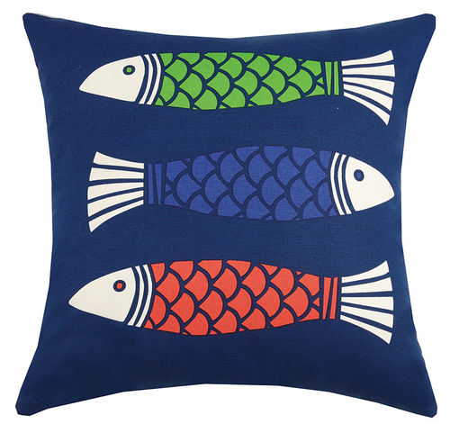 Color Fish Multi Printed Pillow