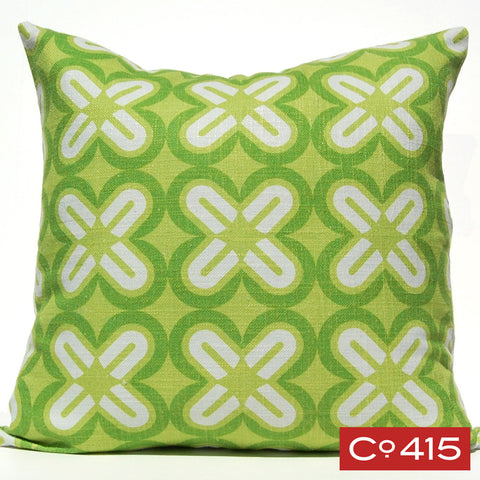 C's & X's Pillow - Green