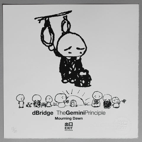 The Gemini Principle - dBridge - Mourning Dawn - White [Print + Download]