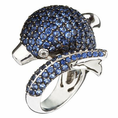 Blue Dolphin Ring