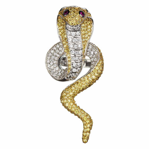 Golden Cobra Ring
