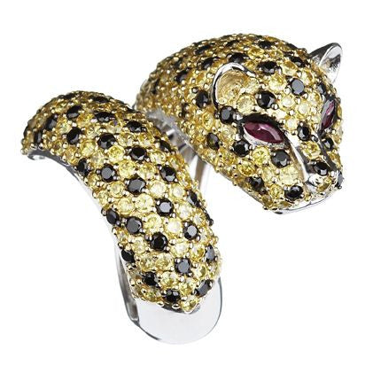 Golden Leopard Ring