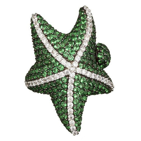 Green Starfish Ring