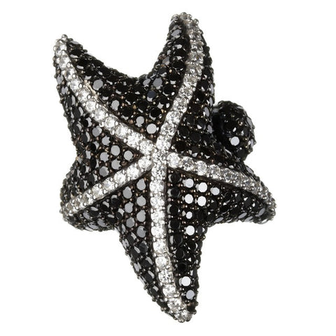 Black Starfish Ring