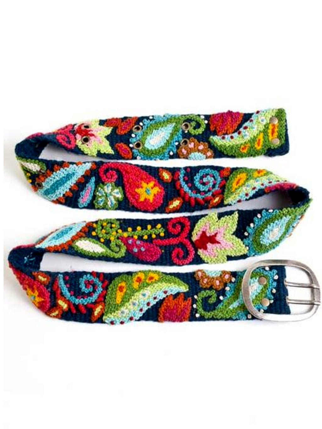 Peruvian Embroidered Belt-Paisley