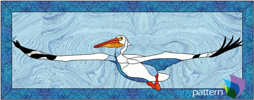 American White Pelican Applique Quilt Pattern