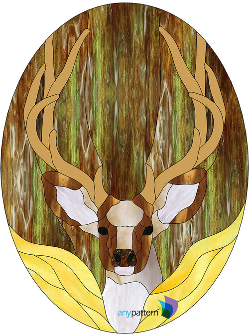 Buck Stained glass pattern