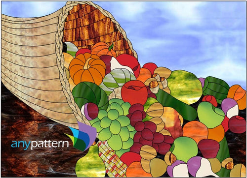 Cornucopia Stained Glass Pattern