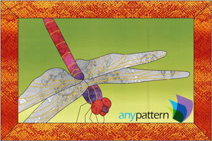 Dragonfly Up-close Applique Quilt