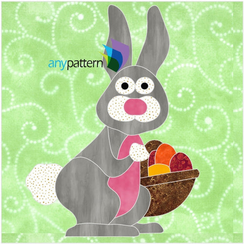 Easter Bunny Free Applique Quilt Block