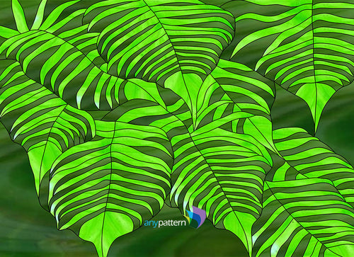Ferns Stained Glass Pattern