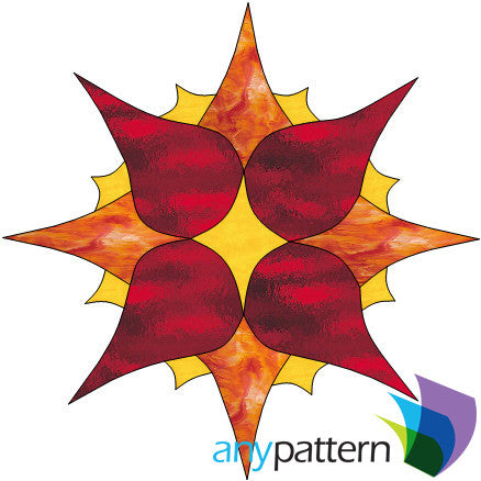 Sun Free Form Stained Glass Pattern