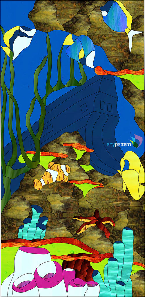 Underwater Paradise Stained Glass Pattern