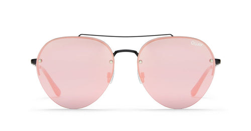 QUAY AUSTRALIA - Black/Pink Somerset Sunglasses
