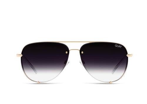 QUAY AUSTRALIA - High Key Mini Rimless Gold/Fade