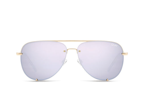 QUAY AUSTRALIA - High Key Mini Rimless Gold/Lilac