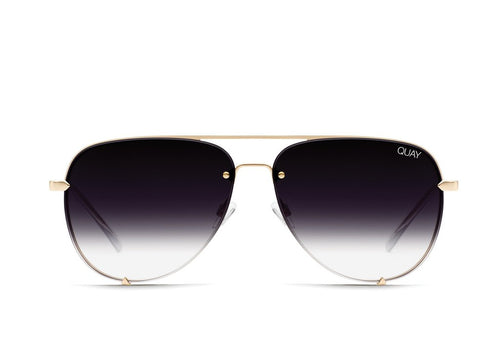 QUAY AUSTRALIA - High Key Rimless Gold/Fade