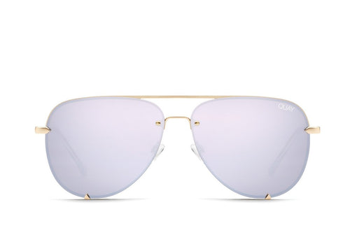 QUAY AUSTRALIA - High Key Rimless Gold/Lilac