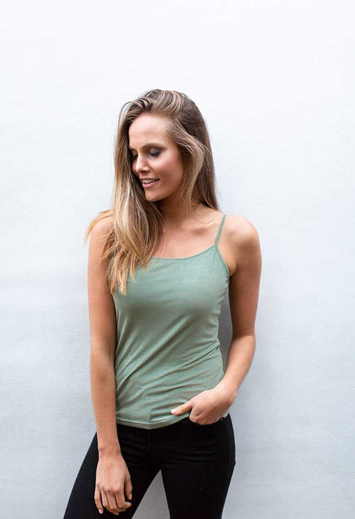 HUMIDITY - Khaki Slip Top