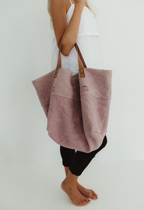 HUMIDITY - Musk Pink Canvas Slouch Bag
