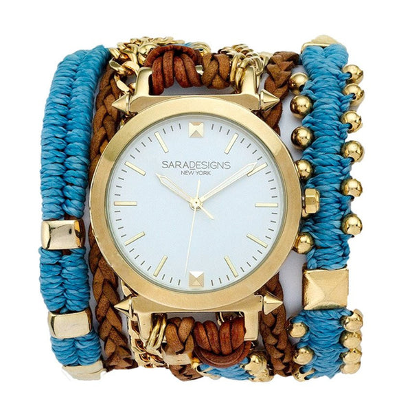 Blue Macrame Wrap Watch Sara Designs