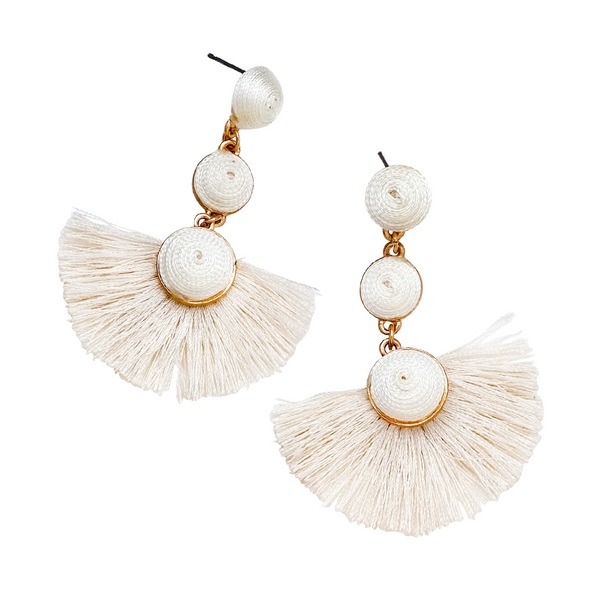 PLAYA BALL DROP EARRINGS- CREAM
