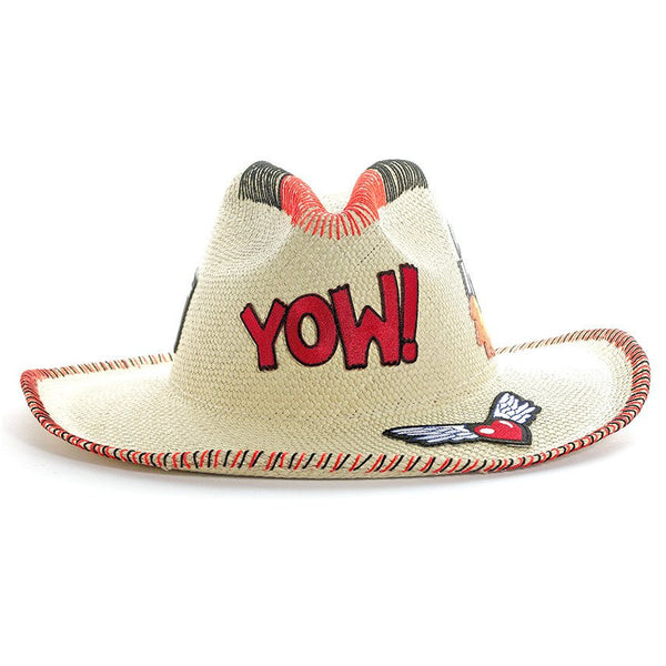 Yow! Patch Natural Fedora Hat