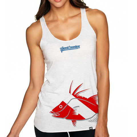 """Hogfish Dive Flag"" Racerback Tank"