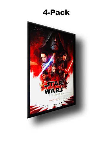 4) 4-Pack Custom Premium LED Light Box Poster Display Frames