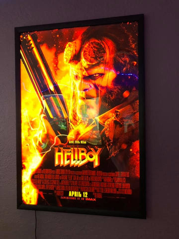 1) 27x40 Custom Premium LED Light Box Movie Poster Display Frame