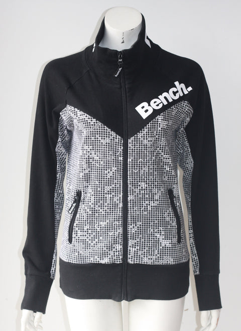 Bench Black Zip Up Sweater Jacket - Joyce's Closet  - 1