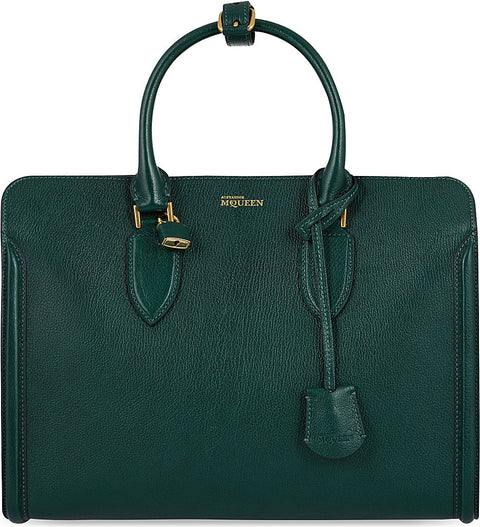 Brand New Alexander McQueen Green Heroine Calfskin Leather Tote - Joyce's Closet  - 1