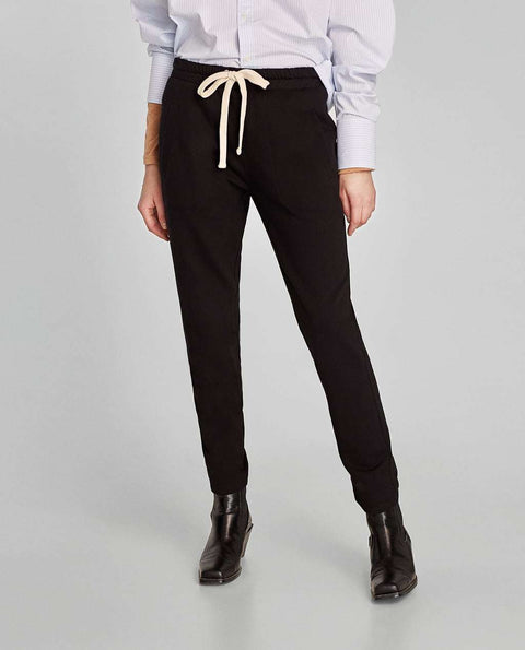 Brand New Zara Black Jogging Trouser Size L