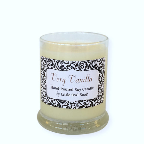 Very Vanilla Soy Candle -  Little Owl Soap