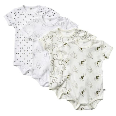 Set 4 Body a Manica Corta Offwhite | PIPPI | RocketBaby.it