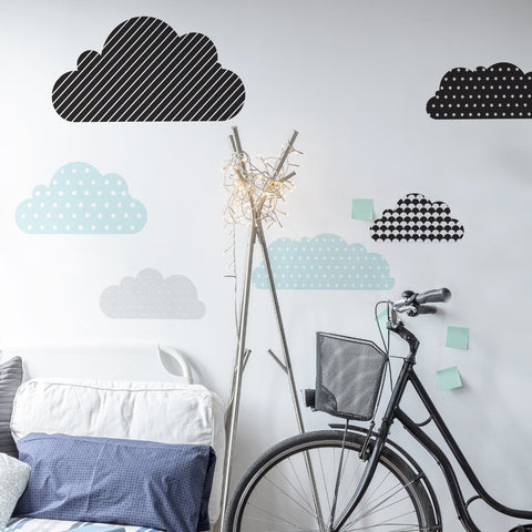 Set Stickers Da Muro Minty Clouds | DEKORNIK | RocketBaby.it