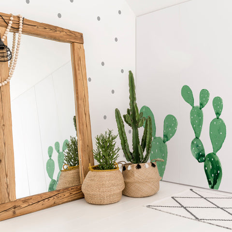 Set Stickers Da Muro Over The Furnitures Green Cactus | DEKORNIK | RocketBaby.it