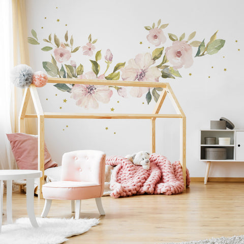 Set Stickers Da Muro Botanic Pastel Magnolia | DEKORNIK | RocketBaby.it