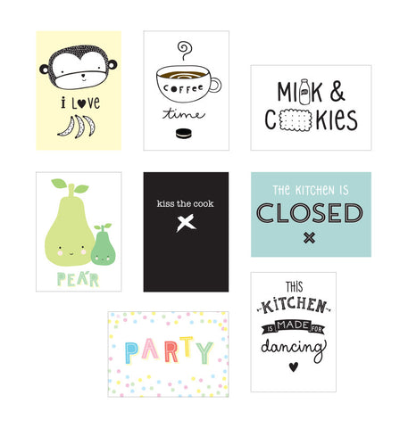 8 Poster per Box Lampada: Cucina - A LITTLE LOVELY COMPANY - RocketBaby.it - RocketBaby