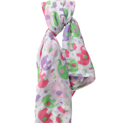 Swaddle in Mussola Elefante Rosa | PICCALILLY | RocketBaby.it