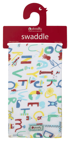 Swaddle in Mussola Alfabeto | PICCALILLY | RocketBaby.it