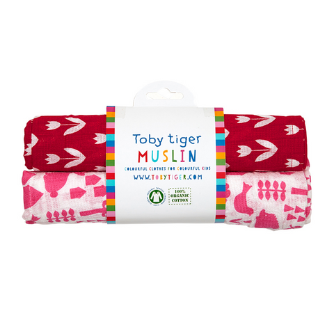 Set 2 Swaddle in Mussola Giardino | TOBY TIGER | RocketBaby.it