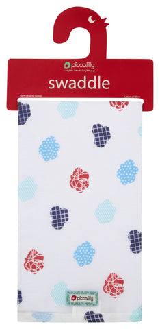 Swaddle in Mussola Nuvole | PICCALILLY | RocketBaby.it